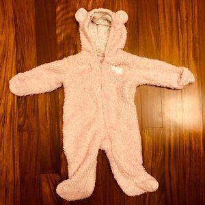 Carter's pink baby girl faux fur pram
